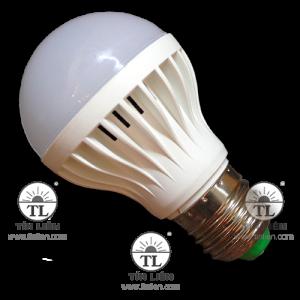 Đèn Led Búp Tròn Nhựa Sứ 5W